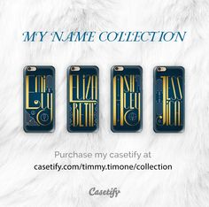 """""""My Name"""" collection at Casetify.  A golden lettering designs with an Art Deco style.  Sophia, Emily, Sarah, Elizabeth, Jessica, Ashley, Alexis.... and more soon!  #sophia #sophie #ashley #jennie #jennifer #jessica #elisabeth #betty #beth #name #artdeco #artnoveau #lettering #case #iphone"""