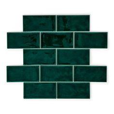 Crackle Bottle Green | Wall Tiles | Porcelain Superstore