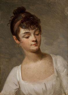 Boilly - Portrait of a young girl. Date unknown. Oil on canvas. 22 x 17 cm. Musée Marmottan Monet, Paris, France.