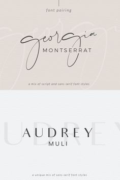 Caligraphy Alphabet Discover Font Pairing April Macarons & Mimosas Choosing the proper font combination will give you a luxurious modern traditional or feminine feel. Montserrat one of my favorite san serif fonts. Web Design, Free Font Design, Graphic Design Fonts, Design Logo, Font Free, Logo Design Trends, Vector Design, Sans Serif Fonts, Typography Fonts