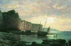 The Coast of Normandy Lev Lagorio (1859) Tretyakov Gallery - Moscow