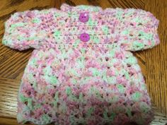ONE OF A KIND - Handmade Crochet S/Sleeve Dress/Top - Preemie/Newborn to 7 lbs #Handmade #DressyEverydayHoliday