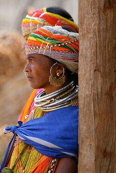 India | Portrait of a Bonda women. Orissa | © Philippe Guy