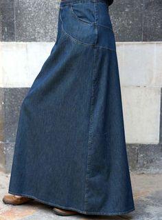 SHUKR Bashira Denim Skirt- great for weekends