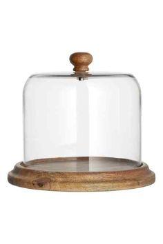 Cloche en verre avec plateau