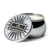 Voluspa Vermeil Travel Tin Candle - Branche Vermeil: Voluspa's embossed metal powder tin candles make the perfect gift! Mini Candles, Candles And Candleholders, Voluspa Candles, Scented Candles, Candle Making, Aromatherapy, Diffuser, Tin, Rings For Men