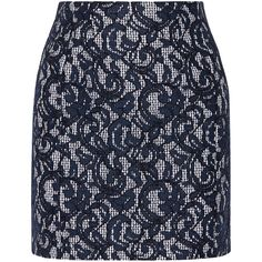 Carven Lace and cotton mini skirt ($248) ❤ liked on Polyvore featuring skirts, mini skirts, blue, carven skirt, blue mini skirt, short lace skirt, cotton skirts and lace miniskirt