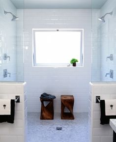 I wish! ...Beautifully simple white bathroom