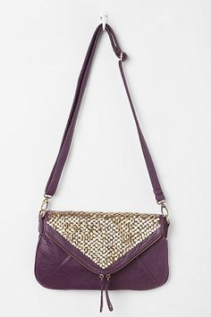 Kimchi Blue Double-Zip Tack-Stud Envelope Bag, Urban Outfitters, $49