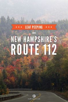 Celebrate the colorful autumn foliage along the Kancamagus Highway in New Hampshire via @roadtrippers.