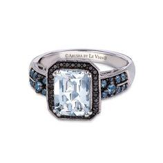 LeVian ring aquamarine