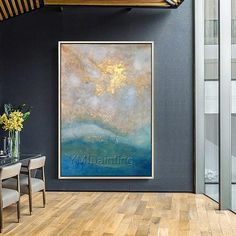Abstract acrylic painting on canvas Original Seascape oil