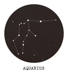 Aquarius Star Constellation Art Print