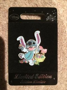 NEW-Disney-Store-Easter-Stitch-2016-Pin-Limited-Edition-Of-800