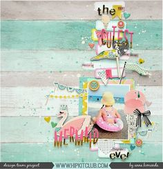 Designer @moriony created this gorgeous Summery layout featuring stickers and other goodies from the August 2017 Hip Kits!