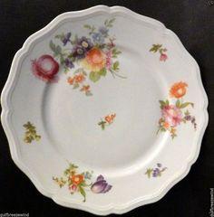 Johann Haviland Bavaria E 74/5 Salad Plate, Chippendale Floral Gold Trim #1 #JohannHaviland