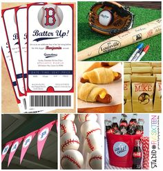 invite idea, guests signed bat, pigs in blanket