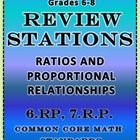 Ratios and Proportional Relationships Word Problems  Common Core Math Standards from 6.RP and 7.RP  20 stations total; 2 stations per page; 1 probl...
