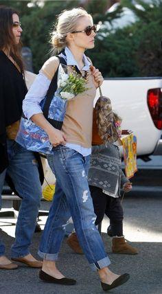 Kristen Bell in Citizens of Humanity boyfriend jeans