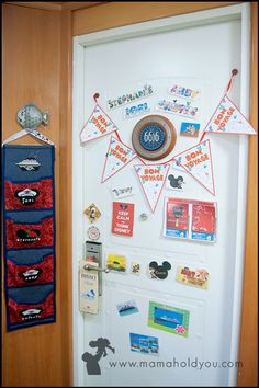 Disney Cruise Line door decor All door decor MUST ONLY be magnetic...No adhesive allowed.