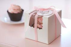 Cupcake Favor Boxes :: Baking Birthday Party for Pottery Barn Kids styled by The TomKat Studio http://www.thetomkatstudio.com/bakingpartyforpotterybarnkids/