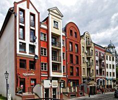 Rebuilt of Old Town in Elblag, Poland.