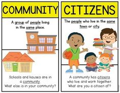 {Back to School} and Being Good Citizens! ...for Kindergarten and FIrst Grade. Building an awareness of citizenship, community, government, power and authority. Includes posters, games, activity pages and more! $