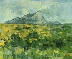 Mont Sainte-Victoire - Artist: Paul Cezanne Completion Date: c.1906 Style: Cubism Period: Final period Genre: landscape Technique: oil Material: canvas Dimensions: 65 x 81 cm