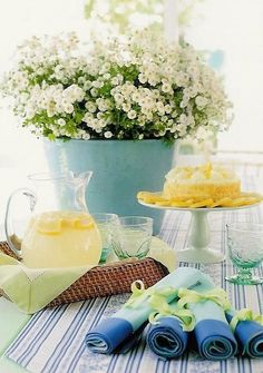 simple but lovely summer setting for guests