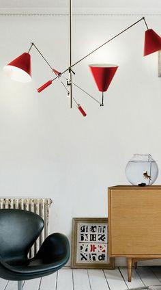 STILNOVO LIGHTING SOLUTIONS FOR A MID CENTURY MODERN HOME_See more inspiring articles at: www.delightfull.eu/en/inspirations/