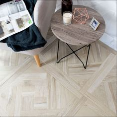 Create a parquet styled floor throughout your home with these Modele Blonde Wood Effect Tiles. They're made from durable porcelain and have a matt finish. Wood Effect Floor Tiles, Wood Effect Porcelain Tiles, Wooden Floor Tiles, Wall And Floor Tiles, Porcelain Floor, Hall Tiles, Kitchen Flooring, Julie's Kitchen, Kitchen Ideas