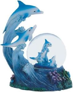 Dolphin Snow Globe figurine.