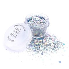 Dust and Dance Magician Silver Holographic Chunky Festival Face Glitter - Halloween Fancy Dress Costume Ideas