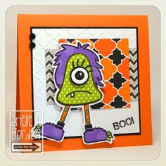 Snappy Stampin' w/ Arielle: BOO! / RS #76....TAWS/ The Alley Way Stamps - Set(s): Funky Feet, Monster Madness and Monster Mash