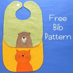 Babies always need bibs. That means the people who love babies need a go to, easy baby bib pattern. It's a simple bib shape – very easy to make and customize with… Baby Bibs Patterns, Applique Patterns, Applique Ideas, Baby Sewing Projects, Sewing For Kids, Sewing Ideas, Baby Bib Tutorial, Funny Baby Bibs, Baby Gifts To Make