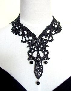 SALE  venise victorian lace bib necklace choker by artsgifts, $14.99