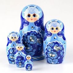 Beautiful Blue Floral Doll