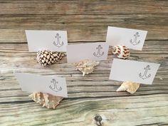 Assorted Beach Seashell card holder, Shell Placement Card Holder, Beach Theme Wedding Card Holder, Seashell Placement Card holder https://etsy.me/2Jlx9po #weddings #decoration #easter #weddingcardholder #beachbridalshower #beachtablesetting #seashellnamecard #shellname