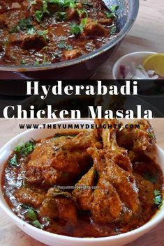 Hyderabadi chicken masala Easy to make Hyderabadi chicken masala recipe. Yummy and delicious chicken curry that can be made easily at home. Serve it with Roti/Naan. Indian Chicken Dishes, Indian Chicken Recipes, Spicy Chicken Recipes, Indian Dishes, Veg Recipes, Curry Recipes, Indian Food Recipes, Vegetarian Recipes, Cooking Recipes