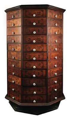 Antique Rotating Octagonal Drawer Unit by Urban Archeology                                                                                                                                                                                 More
