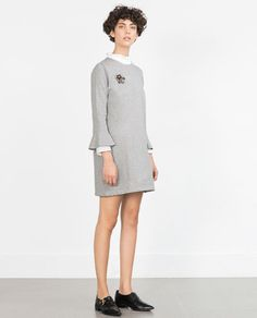 ZARA - NEW IN - PLUSH FRILL DRESS