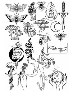 Thank you everyone that participated in my flash tattoo sale and helped me to pr. - - tattoos blackwork Thank you everyone that participated in my flash tattoo sale and helped me to pr. Flash Art Tattoos, Tattoo Flash Sheet, Body Art Tattoos, Girl Leg Tattoos, How To Draw Tattoos, Xoil Tattoos, Frog Tattoos, Octopus Tattoos, Ankle Tattoos
