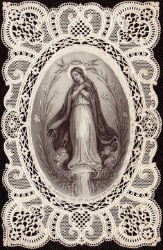 Most Holy Virgin Holy card Religious Images, Religious Icons, Religious Art, Blessed Mother Mary, Blessed Virgin Mary, Catholic Art, Catholic Saints, Vintage Holy Cards, Queen Of Heaven