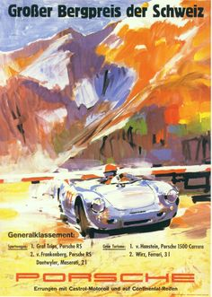 Garage Art, Car Posters, Travel Posters, Automotive Art, Vintage Racing, Vintage Cars, Vintage Auto, Retro Cars, Race Racing
