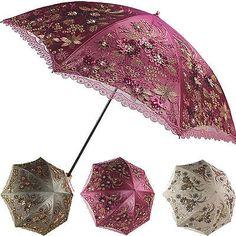 New Women Double Folding Lace Sun/Rain Protection Umbrella/Lady Anti-UV Parasol