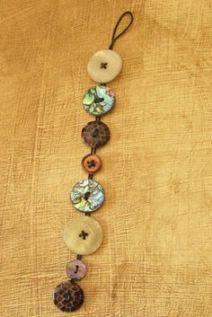 Hope Studios: Tutorial Tuesday - Button Bracelets Buttons in various sizes (test to be sure your cord will fit into the holes) Round leather or coated cotton cord (1 mm in diameter) Instructions: Arrange your buttons ahead of time to lay out your pattern