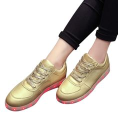Cool LED Light Lace Up Casual Sportswear Luminous Flat Sneaker Other Shoes