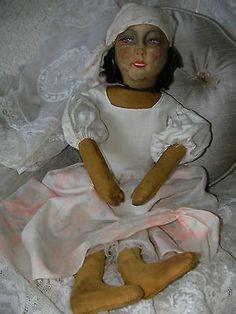 RARE-Antique-франко-Ring-будуар-кровать-кукла-оригинал-одежда-c1920-30-экс-Conditio