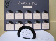 centre de table disque vinyle - idees et merveilles