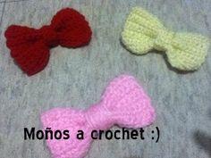 Cómo tejer lazos para el cabello a crochet en punto cocodrilo o escamas (crocodile stitch bow) - YouTube